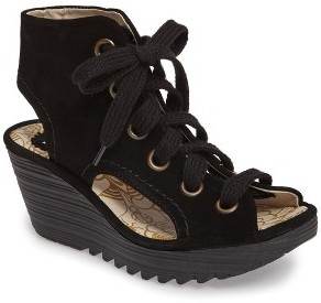 Women's Fly London Yaba Lace-Up Platform Wedge $174.95 thestylecure.com