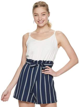 d6db4cfe916ede Junior's Lily Rose Romper with Camisole Top