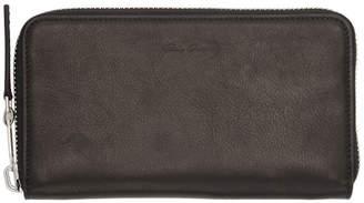 Rick Owens Black Large Zipped Wallet