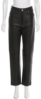 Hermes High-Rise Leather Pants