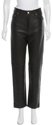 Hermès High-Rise Leather Pants