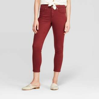Universal Thread Women's High-Rise Cropped Skinny Jeans Burgundy