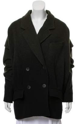 Zac Posen Double-Breasted Notch-Lapel Coat