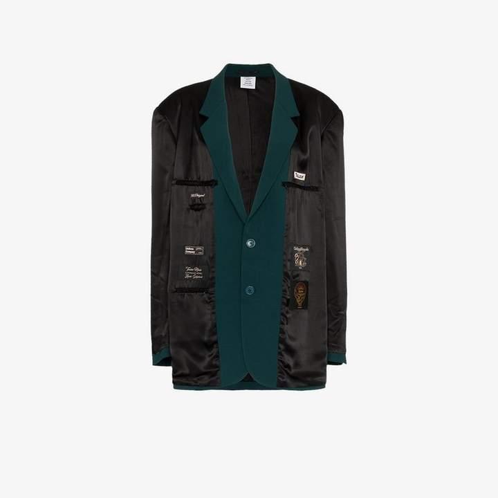 inside out oversized wool blazer