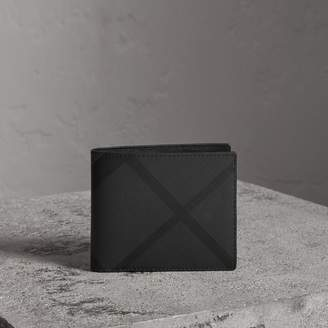 Burberry Check Bifold Wallet with Removable Card Case