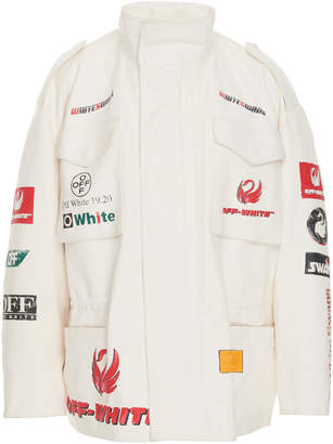 Off-White Off White C/O Virgil Abloh Multilogo Leather Field Jacket