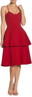 Dress the Population Yasmin Tiered-Skirt A-Line Dress