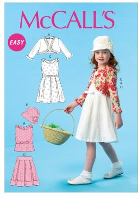 The McCall Pattern Company M6914 CL Child Only Sewing Patterns, Multi-Colour