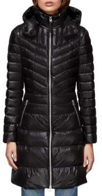 Mackage Women's Lara Hooded Quilted Down Coat - Black - Size XXS