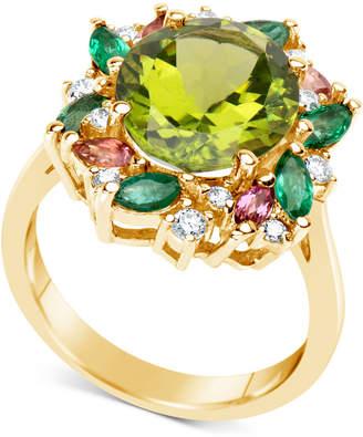 Macy's Multi-Gemstone (5-1/2 ct. t.w.) & Diamond (1/5 ct. t.w.) Ring in 14k Gold