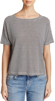 Eileen Fisher Petites Striped Organic Linen Tee $128 thestylecure.com