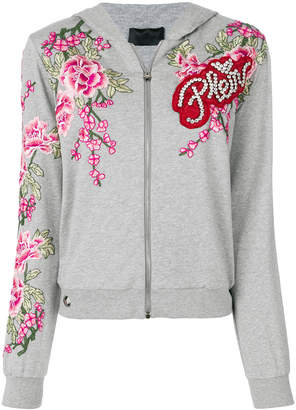 Philipp Plein rose zipped hoodie