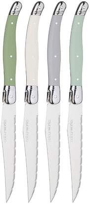 Kitchen Craft Colourworks Classics – Set Of 4 Stainless Steel Steak Knives
