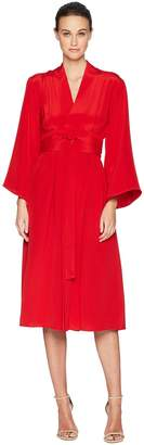 ADAM by Adam Lippes Silk Crepe Kimono Sleeve Dress w/ Belt Women's Dress