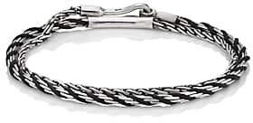 Co Caputo & Men's Double-Wrap Bracelet-Black