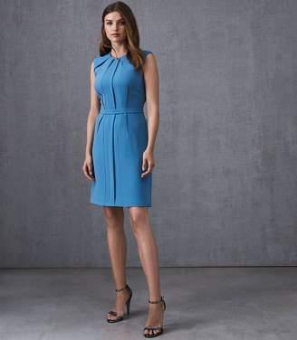 Reiss Nala - Tailored Dress in Antique Blue