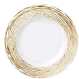 Rufolo Glass Gold Stripe Charger Plate