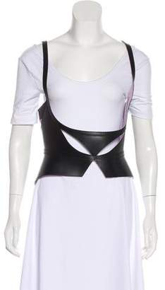 Herve Leger Leather Patchwork Harness w/ Tags