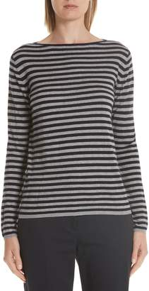 Max Mara Nardo Stripe Silk & Cashmere Sweater