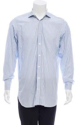 Drakes Drake's Striped Button-Up Shirt