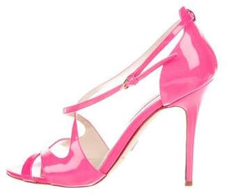 Brian Atwood Neon Patent Leather Sandals