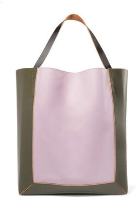 Marni Frame Color-block Leather Tote - Pink