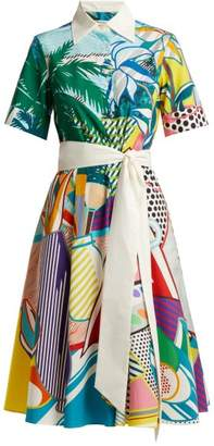 Mary Katrantzou Cecilia Pop Art Print Cotton Dress - Womens - Multi