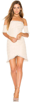 Endless Rose Frayed Trim Dress in Ivory $96 thestylecure.com