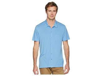 Agave Denim Fort Point Short Sleeve Full Button Polo Men's Short Sleeve Pullover