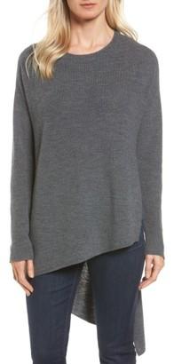 Women's Eileen Fisher Asymmetrical Merino Wool Pullover $278 thestylecure.com