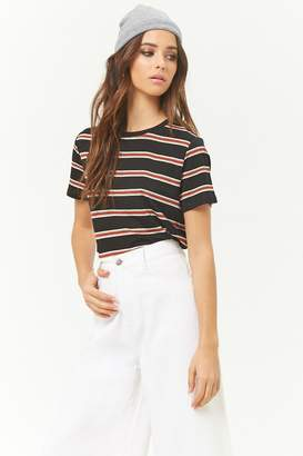 Forever 21 Multicolor Striped Tee