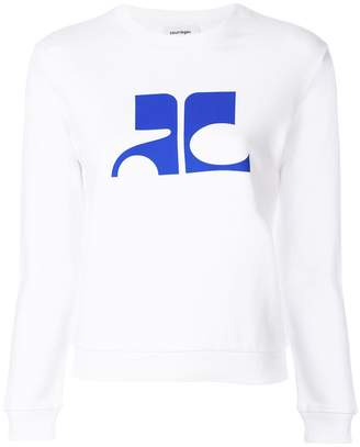Courreges printed sweatshirt