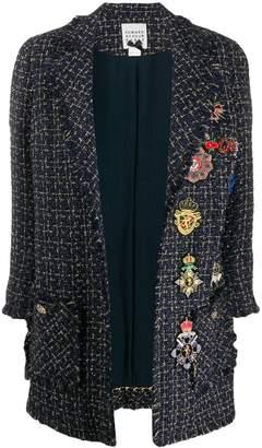 Edward Achour Paris metallic threaded woven coat