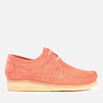 Clarks Women's Weaver Suede Shoes - Coral