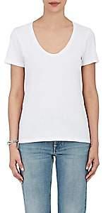 Barneys New York Women's Pima Cotton Scoopneck T-Shirt - White