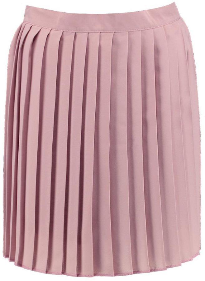boohoo cate chiffon pleated mini skirt shopstyle co uk