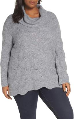 Sejour Pointelle Tunic Sweater