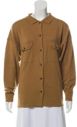 TSE Cashmere Button-Up Cardigan Tan Cashmere Button-Up Cardigan