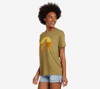 Life is Good Color Block Tree Slouchy T-Shirt