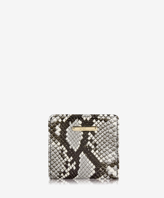 GiGi New York Mini Foldover Wallet, Natural Italian Printed Python