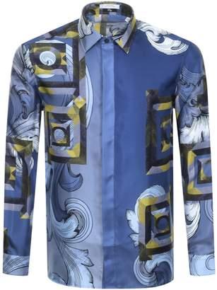 Versace Baroque Shirt Blue