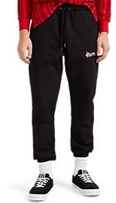 4HUNNID Men's Logo Cotton Fleece Jogger Pants - Black