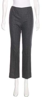 Trussardi Wool High-Rise Pants