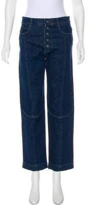 Stella McCartney High-Rise Straight-Leg Jeans w/ Tags