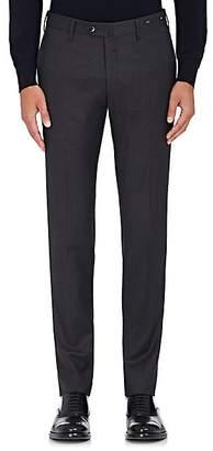 Pt01 Men's Wool Twill Super-Slim Trousers - Charcoal