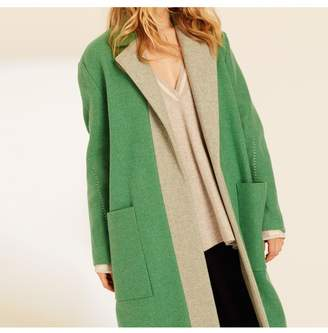 Amanda Wakeley Emerald Oversized Wool Coat