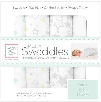 Swaddle Designs X-Large Cotton Muslin Swaddle Blankets Goodnight Starshine
