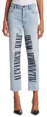 Alexander Wang Cult Wang Logo Cropped Jeans