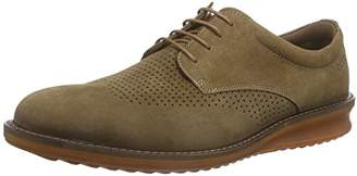 Ecco Contoured, Men's Brogues, Camel/Cocoa Brown