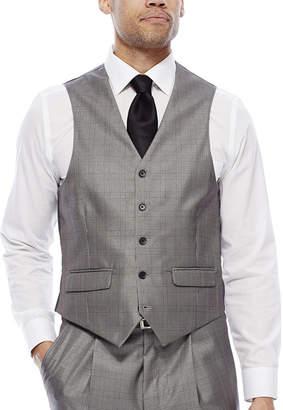Steve Harvey Black & White Plaid Vest - Classic